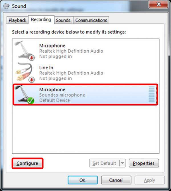 روش همگام سازی میکروفن هدمیک Soundco مدل UPC-1250 با پورت USB